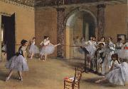 Germain Hilaire Edgard Degas Dance Foyer at the Opera oil painting picture wholesale
